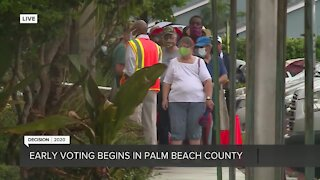 Early voters line up to cast ballot in Palm Beach County