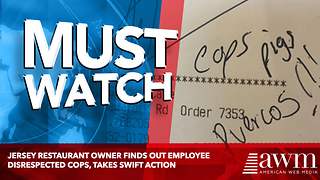 Jersey Restaurant Owner Finds Out Employee Disrespected Cops, Takes Swift Action - Video