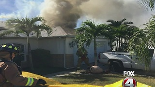 Cape Coral house fire injuries firefighter - Video