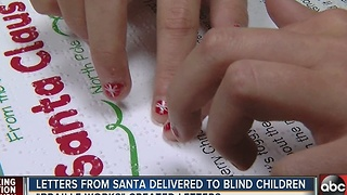 Santa's letters delivered in braille to local students - Video
