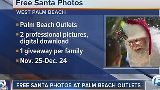 Free Santa photos at Palm Beach Outlets - Video