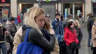 Parisians Remember First Anniversary of Terrorist Attacks on République Square - Video