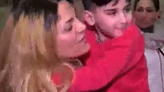 Iranian boy, 5, reunited with his mother at Dulles airport - Video
