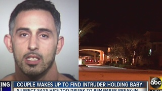 PD: Man found holding couple's baby at Tempe home - Video