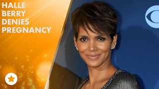 Halle Berry: I'm not pregnant, it's steak and fries! - Video