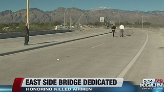 Tucson City officials cut ribbon on brand new bridge - Video
