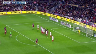 Leo messi increible golazo con tiro libre vs sevilla - Video