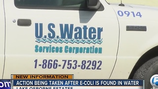 Action being taken after E-coli is found in water