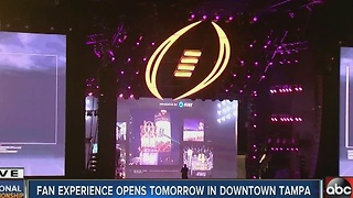 Fan experience opens tomorrow in Downtown Tampa - Video