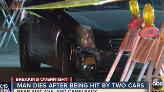 Man dies after being hit by cars in Phoenix overnight - Video