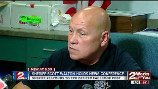 Sheriff responds to TPD officer's facebook post - Video