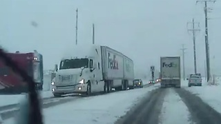 Passenger train crashes into FedEx truck - splits it in half - Video