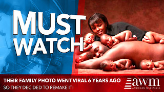 Family Of Sextuplets Recreates Famous Family Photo - Video