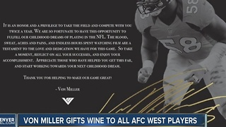 Von Miller gives ever AFC West player a bottle of wine - Video