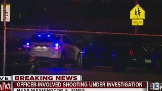 Person shot by Las Vegas police near Jones, Washington - Video