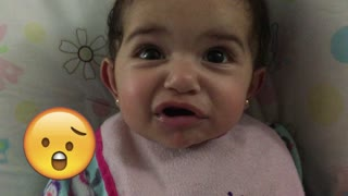 Adorable baby takes on Emoji Challange - Video