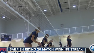 Sailfish Riding 26 Match Winning Streak