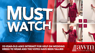 93-Year-Old Asks Internet For Help On Wedding Dress To Wear And The Votes Have Been Tallied - Video
