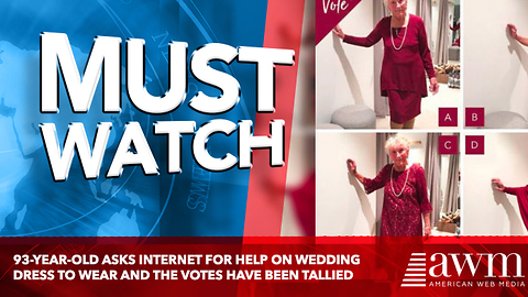 93-Year-Old Asks Internet For Help On Wedding Dress To Wear And The Votes Have Been Tallied