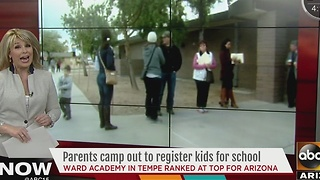 Parents camp out for hours to register kids for Ward Traditional Academy - Video