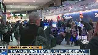 Thanksgiving travel rush underway at Lindbergh - Video