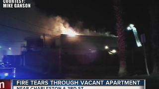 Squatters could be responsible for vacant apartment complex fire - Video