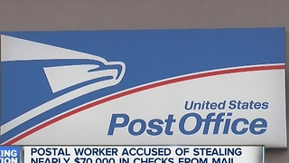 Postal worker accused of stealing thousands of dollars in mail