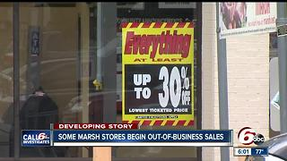Marsh stores that will close next month after liquidation sales
