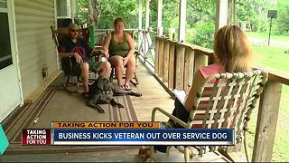 Wounded warrior turned away at restaurant over his service dog - Video