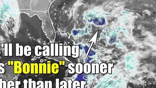 Almost Tropical Storm Bonnie - Video
