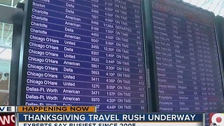 Thanksgiving travel rush underway at Cincinnati/Northern Kentucky International Airport - Video