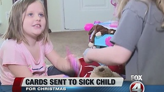 Young cancer survivor gets Christmas cards
