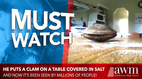 He Puts A Clam On A Table Covered In Salt, Video Has Been Seen By 2 Million People Already