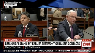 Rep Leiu Gets Served By AG Sessions About Calling Him A Liar - Video