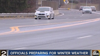 Maryland prepares roads for snow, freezing rain - Video