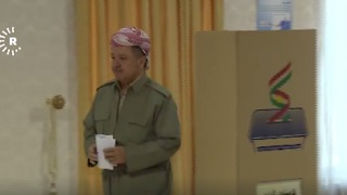 Iraqi-Kurdistan President Barzani Votes in Independence Referendum - Video