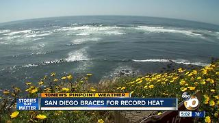 San Diego braces for record heat - Video