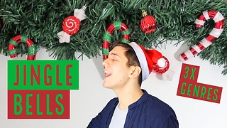 Talented artist sings 'Jingle Bells' in 3 different styles - Video