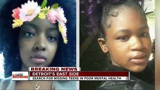 Search for missing teens in poor mental health