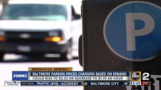 Baltimore parking rates to be based on demand