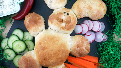 Try out this Easter bunny bread recipe