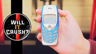 Nokia 3310 crushed by hydraulic press - Video