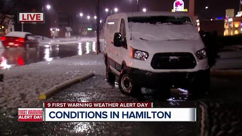 Northern areas see slushy road conditions