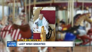 Doctors, nurses at Cleveland VA hospital help grant veteran's final wish to ride carousel - Video