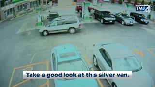 Car stolen from Bay View gas station while driver was pumping gas - Video