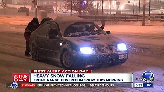 Slick roads, slow commute across Denver metro area
