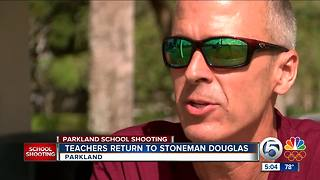 Teacher returns to Marjory Stoneman Douglas High - Video