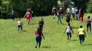 Fitness groups hold classes outside as governor lifts stay-home order