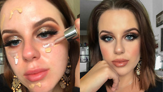 A Girl Transforms Herself And Create A Stunning Makeup Look