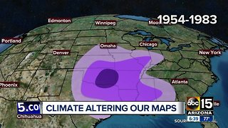 Weather changes altering maps; could impact crops